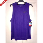 Nike Mens Dri-Fit Vest Tank Purple Rare Genuine Gym Lifting Singlet Rare NEW