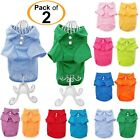 PACK of 2 Colors Dog Polo Shirt T-Shirt Puppy Cat Solid Clothes For SMALL Pet