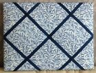 William Morris 'Blue Willow' fabric covered Memo/message/pin/notice  Board