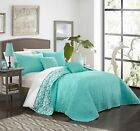 anat 5 piece quilt set reversible fluer