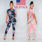 women 2 piece outfits blouse floral print