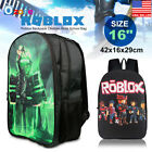Внешний вид - Roblox Backpack Children Boys School Bag Student Laptop Kids Rucksack 16""