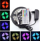 5M 3528 RGB 300 Led SMD Flexible Light Strip Lamp 44 key IR 12V 2A Power Supply