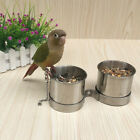 Bird Feeder Food Dish Parrot Feeders Water Bowls Stainless Steel Cups