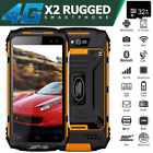 Unlocked 4G LTE Rugged Android Smartphone X2 Cell Phone Dual SIM Waterproof +32G