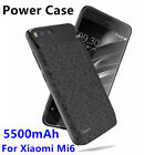 For Xiaomi Mi6 External Battery 5500mAh Power Bank Case Charger Backup Cover