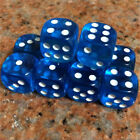 20pcs Dice Transparent Six Sided Spot D6 RPG Role Playing Game Red Blue