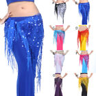 Внешний вид - Belly Dance Triangle Hip Scarf Wrap Waistband Belt Festival Sequin Wrap Skirt