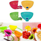 4 Clips Dipping Sauce Holder Kitchen Food Ketchup BBQ Blue R