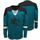 NHL San Jose Sharks Perennial Long Sleeve Crew Jersey Shirt Top Youth Kids $36.51 USD on eBay