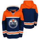 NHL Edmonton Oilers Asset Pullover Hockey Hoodie Top Sweater Jumper Youth Kids $64.65 USD on eBay