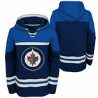 NHL Winnipeg Jets Asset Pullover Hockey Hoodie Top Sweater Jumper Youth Kids $64.65 USD on eBay