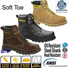 Caterpillar CAT Steel Shank Soft Toe EH Rated Slip Oil Resistant Leather boot 6