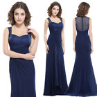 Ever-Pretty Navy Blue Wedding Sleeveless Gown Long Evening Party Dresses 08776