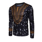 African Tribal Shirt Men Dashiki Print Succinct Hippie Top Blouse Clothing US <br/> ❤US STOCK❤DASHIKI BLOUSE❤FAST SHIPPING❤HIGH QUALITY❤