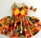 DOG DRESS/HARNESS  FALL COLORS BIRDS AND PUMPKINS  NEW /FREE SHIPPING