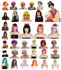 Fancy Dress Men Women Girls Wigs Afro Clown Mermaid Flapper