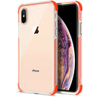 For iPhone XS Case Clear Back Silicone Bumper Case for iPhone X 8 7 6 Cover
