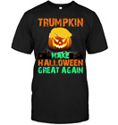 Trumpkin Make Halloween Great Again Shirt Funny Trump Black Cotton Men M-3XL