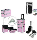 New 4in1 Interchangeable Aluminum Rolling Makeup Case Cosmetic Train Box Trolley
