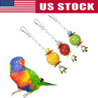 Pet Hanging Parrot Chew Sound Bell Ball Bite Toy Cage For Pet Bird Parakeet USA