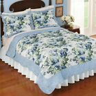Reversible Blue Lace Rose Quilt Full/Queen image