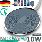 Qi Induktive Ladestation Wireless Charger für Samsung Galaxy S9 S8 Plus S7 S6 DE