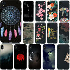 For iPhone XS Max XR X 6 7 8 Plus Slim Soft Silicone Painted TPU Back Case Cover