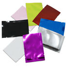 100x Open Top Aluminum Foil Mylar Bag Colorful Seal Food Storage Packaging Pouch