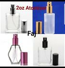 Refillable Purfume Spray Glass Atomizer Empty Bottle Flat/Dimond/Frosted Shape