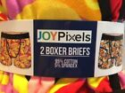New Joy Pixels 2 Pack, Happy Emoji Boxer Briefs Novelty Men's Choose Size