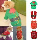 Christmas Dogs T-Shirts Puppy Pets Costume Clothes Xmas Party New Year Apparel