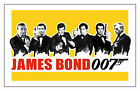James Bond 007 All The Bonds Classic Movie Art Silk Poster 8x12 24x36 24x43 $14.08 CAD on eBay