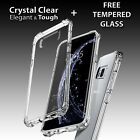 Samsung Galaxy TPU Silicone Gel Clear Shockproof Case Cover + TEMPERED GLASS