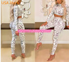 women print sexy 2 piece set turtleneck