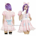 Baby Doll Cosplay Costume Dress Peter Pan Collar & Pink Bow Headband JRS XL NEW