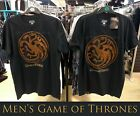 Official GAME of THRONES Mens Primark Licensed T-Shirt with Gold Sigil Logo...