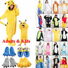 Kids Adults Animal Kigurumi Pajamas Cosplay Onesi1 Sleepwear Costumes Unisex