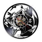 Pirates Ship Sailing Vinyl Record Time Clock Sea Marine Wall Clock Home Decor
