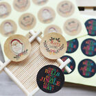 120Pcs Kraft Paper Sticker Merry Christmas Seal Sticker DIY Paper Label Stickers