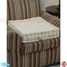 SOFT CHUNKY BOOSTER SQUARE CUSHION FLOOR CHAIR SEAT PAD SOFA GARDEN HOME 10cm
