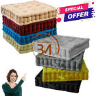 SOFT CHUNKY BOOSTER SQUARE CUSHION FLOOR CHAIR SEAT PAD SOFA GARDEN HOME OFFICE