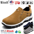 Men's Slip On Sports Outdoor Sneakers Running Walking Hiking Shoes Trainers Gray