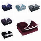 Sherpa Throw Blankets Velvet Reversible Solid Blanket Borrego 50*60 image