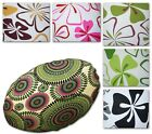 Flat Round Shape Cover*4 Leaf Cotton Canvas Floor Seat Chair Cushion Case*AF5