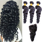 Brazilian 8ALoose wave hair wholesale price high quality3 bundle with a closure