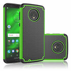 For Motorola Moto G6 - Hybrid Dual Layer ShockProof silicone Hard Case Cover