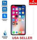 [4-Pack] Premium Real Tempered Glass Screen Protector For iPhone X XS XS Max XR