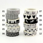 Внешний вид - Decor Washi Tape Set of 12 Black & White - Great for Planners Scrapbooking Bujo