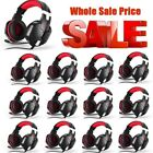 LOT EACH 3.5mm Surround Stereo Gaming Headset Headband Headphone with Mic for PC